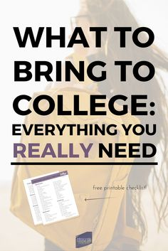 What to Bring to College   College Packing List   Dorm Room Packing List, Checklist   For Girls   Best & Ultimate   Free Printable   Simple, Minimalist   Complete Detailed   Bathroom, Kitchen, Clothes/Clothing  Free PDF Download   Tips   Everything   Student Articles & Posts   via @esycollegelife