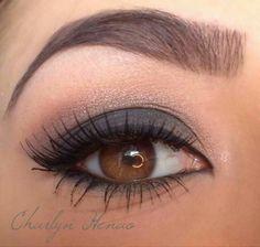 Smokey eyes for brown eyed girls
