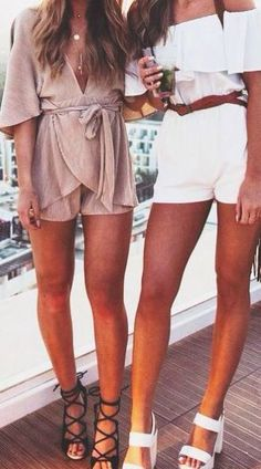 these rompers and heels are so cute for spring break or summer going out outfits!