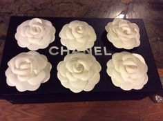 Lot Of Six Authentic Chanel Camellia Stick On Flowers Used With Free Box. Get the lowest price on Lot Of Six Authentic Chanel Camellia Stick On Flowers Used With Free Box and other fabulous designer clothing and accessories! Shop Tradesy now