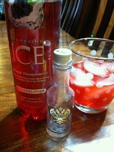Sparkling Ice Black Raspberry & Smirnoff Whipped Cream Vodka