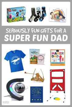 Seriously Fun Gifts for Super Fun Dads - You're sure to find a Father's Day gift for dad the kids will love giving and he will love getting! - A B-Inspired Mama Father's Day Gift Guide Little Gifts For Him, Gifts For Husband, Fathers Day Gifts, Valentine Day Gifts, Gifts For Friends, Fun Gifts, Best Gifts, Adoption Baby Shower, Quotes Thoughts