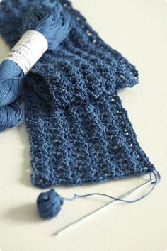 VogueKnitting Knit Simple Crochet Scarf Free Crochet Pattern (requires free login)