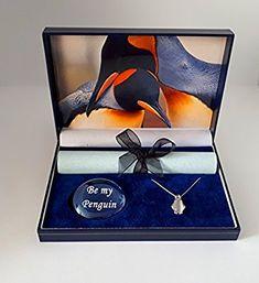I'm deceased ! Amazon.com: pebblez and penguinz Penguin gift box Kings of romancewith moonstone pendant: Home & Kitchen