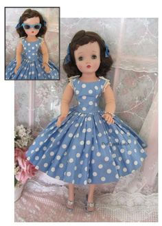 "charming 1950s Madame Alexander Cissy doll measures 21"" tall."