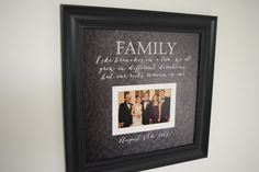 Family Photo Frame  Like Branches on a Tree quote by framedaeon