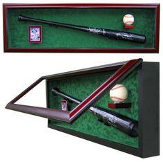 One Baseball Bat One Card and One Baseball UV Protective Display Case