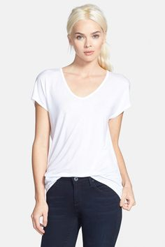 $10 - Trouve - 'Easy' V-Neck Tee at Nordstrom Rack. Free Shipping on orders over $100.