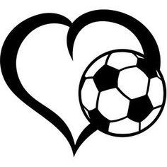 Silhouette Design Store - View Design #146540: ball soccer heart