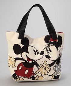 Vintage Mickey & Minnie Tote   zulily