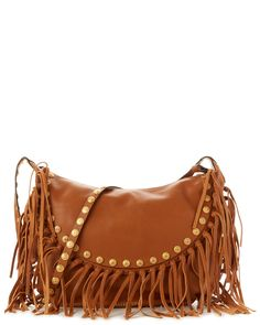 Valentino Medallion Fringe Leather Hobo Bag is on Rue. Shop it now.