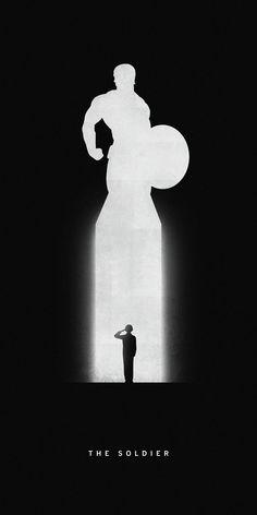 Ces illustrations minimalistes racontent l'histoire des super-héros avec leurs emblématiques silhouettes | Daily Geek Show
