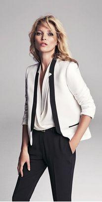 white tuxedo- Kate Moss