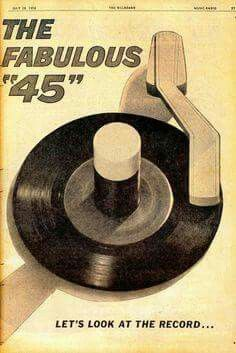 Vinyl record 45rpm, the way  we listened  to  Rock  n Roll.