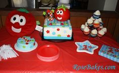 VeggieTales Bob the Tomato 1st Birthday Cake