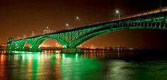 bridge_lighting_2  Peace Bridge NY to Ontario, Canada
