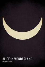 Loved this Alice in Wonderland minimalist poster design. By Jackson. Minimal Movie Posters, Minimal Poster, Film Posters, Disney Posters, Alice In Wonderland Poster, Poster Minimalista, Jackson, Chesire Cat, Illustration