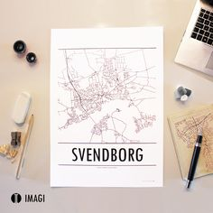A brilliant designed map of Svendborg, Denmark made by Imagi - take a look at our wide product range of danish provincial towns on www.imagi.dk