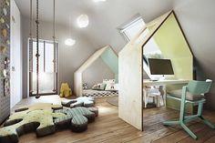 Dormitorios infantiles de estilo industrial por razoo-architekci
