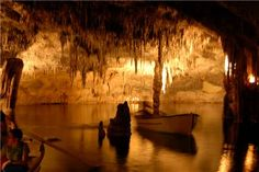 Drac caves in Porto Cristo, Mallorca.... They won't let you take pictures inside :-(