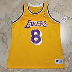 e634388c1 Doug Christie Champion Size 48 Lakers 8 Home Jersey New with Tags RARE