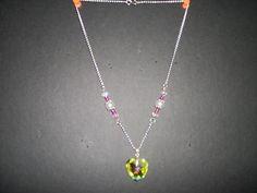 crystal princess heart necklace