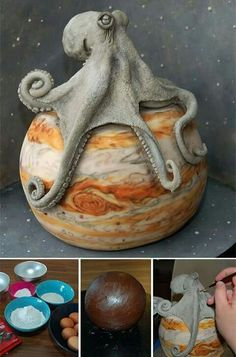Amazing Cake Sculptures from Threadcakes Contest Amazing Cakes, Amazing Art, Octopus Cake, Sculpture Art, Sculptures, Cake Competition, Cool Cake Designs, Slab Pottery, Wow Art