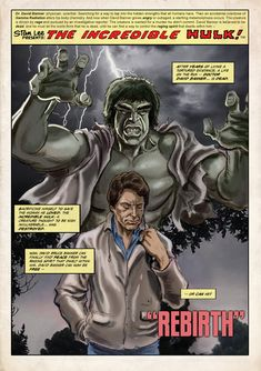 I thought I'd have some fun with this pic... as a huge fan of the TV series, I'd have loved to have seen the planned sequel to the last TV movie the DEATH OF THE INCREDIBLE HULK... in which it's re...