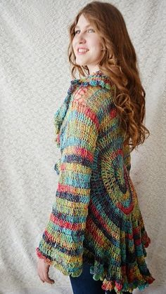 Crochet Cardigan  Sweater  Bohemian  Crochet by irinacarmen, $139.00