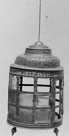 Medieval lantern at the Swedish Historical Museum. Copper, lead, horn.