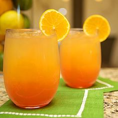 Inspired by the vibrant orange and pink sunsets over the Alabama Gulf Coast town of Orange Beach, this cocktail is a new spin on the classic Tequila Sunrise.