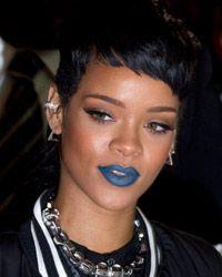 Rihanna Blue lips