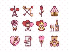 Valentine's Day Free Icon Set - Best #icons http://iconutopia.com/best-icons-of-the-week-week-17/