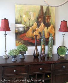 Decorating A Dining Room Sideboard
