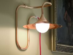 Copper wall lamp with fixed arm Turbaya Collection by Intueri Light