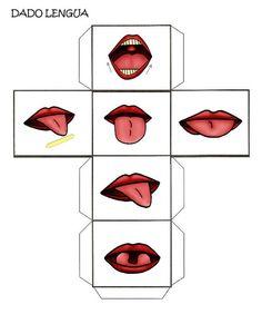 Dados Praxias para trabajar las diferentes posiciones de la lengua.