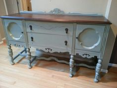Persian blue sideboard  www.facebook.com/olcountrychic