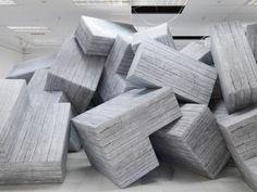 Andreas Angelidakis, installation view of 68 blocks of ruins. Courtesy of Documenta 14.