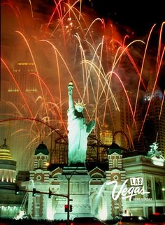 The opening of New York New York fireworks January 2, 1997