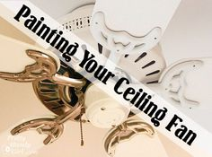 Pretty Handy Girl paint_your_ceiling_fan_tutorial Painted Furniture, Diy Furniture, Do It Yourself Inspiration, Ga In, Do It Yourself Home, Painting Tips, Painting Tutorials, Spray Painting, Decorating Tips
