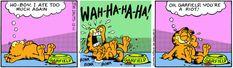 Garfield comic strip. Garfield philosophy.