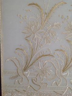 Whitework embroidery by Mihrican KayaAnkara Turkey (19.yy bir u0130ngiliz el naku0131u015fu0131 desenini ajur teknikleri kullanarak iu015fledim)