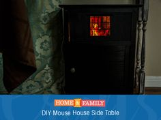 This Mouse House Side Table functions as both a bed side table and a night light. Perfect for your child's room! DIY by @kennethwingard on Home and Family!