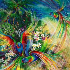 """Tropical Abundance"" - Limited Edition Fine Art Reproduction by artist De Gillett, available now at http://www.artreproductions.com.au/gallery.php?artid=1675"