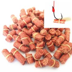 100 pcs PING Red carp,smell lure Red Grass Carp Baits Fishing Baits Fishing Lures