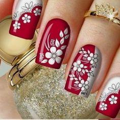 Fancy Nails, Red Nails, Cute Nails, Pretty Nail Art, Beautiful Nail Art, Scholl Velvet Smooth, Nagellack Trends, Finger Nail Art, Toe Nail Designs