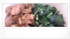 Bocconcini di vitello al limone con erbette e fagiolini ... box lunch