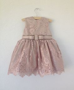 Dress Emma // Flower girl // Bridesmade // Wedding // Bridal // Exclusive dress // Pink lace dress //
