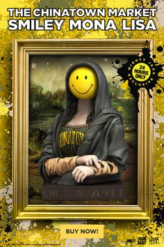 """The heist is now on! Your 24 hours starts now! Considered a masterpiece of 2021, grab The Chinatown Market Smiley Mona Lisa (MJ Edition) and add it into your collection before it's gone. ~10"""" Vinyl Art Collectible // $189 With Free Shipping #mightyjaxx #limitededition #arttoys #collectibles #designertoy #vinyltoy #chinatownmarket #smiley #monalisa #streetart #culturejamming #availablenow Vinyl Toys, Vinyl Art, Street Fighter Toys, Han Solo Frozen, Culture Jamming, Keep The Lights On, Custom Vinyl, Designer Toys, Smiley"""