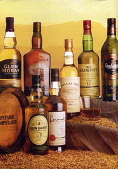 Single malt scotch - not necessarily these brands - but you get the idea!